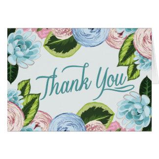 水彩画の花柄はメッセージカード2感謝していしています ノートカード