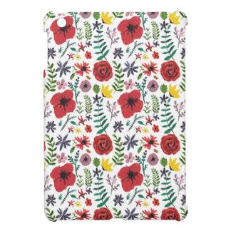 水彩画の花柄パターン iPad MINI CASE