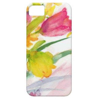 水彩画の花柄 iPhone SE/5/5s ケース