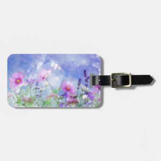 水彩画の花 ラゲッジタグ