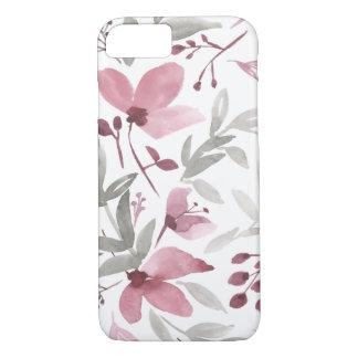 水彩画の花-素朴な花のiPhoneの場合 iPhone 8/7ケース