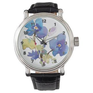 水彩画の花 腕時計