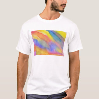 水彩画の虹のスライド Tシャツ
