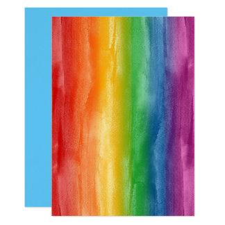 水彩画の虹は縞で飾ります カード