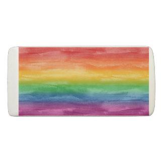 水彩画の虹は縞で飾ります 消しゴム