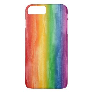 水彩画の虹は縞で飾ります iPhone 8 PLUS/7 PLUSケース