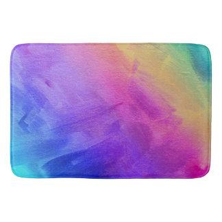 水彩画の虹 バスマット
