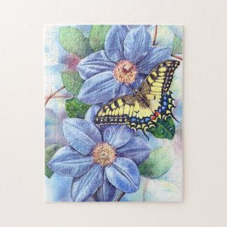 水彩画の蝶パズル ジグソーパズル