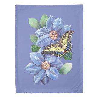 水彩画の蝶(側面1)対の羽毛布団カバー 掛け布団カバー