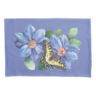 水彩画の蝶(2人の側面)枕カバー 枕カバー