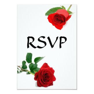 水彩画の赤いバラ- RSVPカード カード
