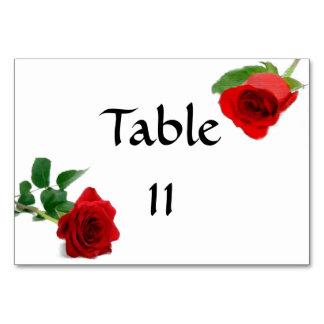 水彩画の赤いバラ- Tablecard カード