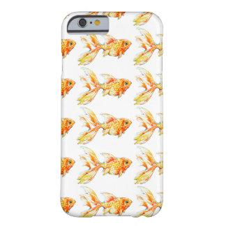 水彩画の金魚の掘抜きの電話箱 BARELY THERE iPhone 6 ケース