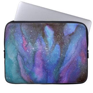 水彩画の銀河系 ラップトップスリーブ