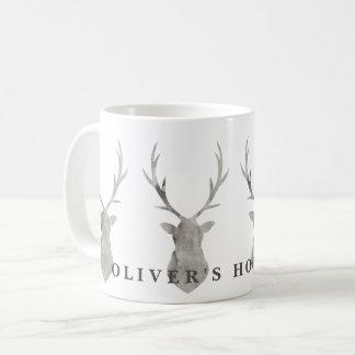 水彩画の雄鹿 コーヒーマグカップ