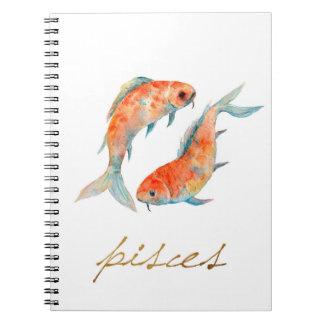 水彩画の魚類の魚 ノートブック