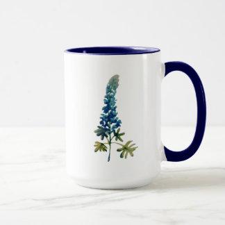 水彩画のBluebonnetのコーヒー・マグ マグカップ