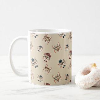 水彩画のBohoのヒップスター猫のクラシックなコーヒー・マグ コーヒーマグカップ