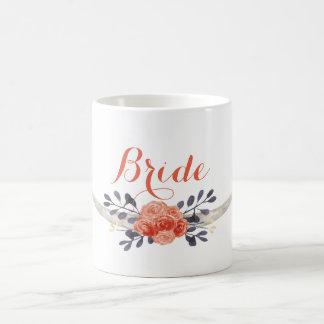 水彩画のBohoの花嫁のマグ コーヒーマグカップ