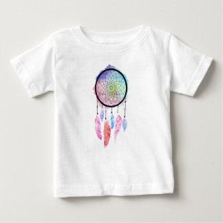 水彩画のDreamcatcherのベビーのTシャツ ベビーTシャツ
