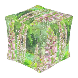 水彩画のLupineによってはかわいらしい植物園が開花します アウトドアプーフ