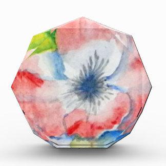 水彩画のSweetpeaの花の芸術 表彰盾