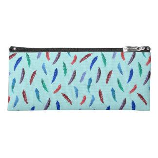 水彩画は筆箱に羽をつけます ペンシルケース