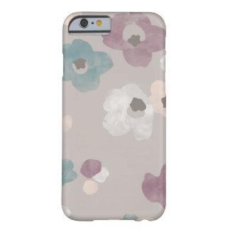 水彩画は箱-暗灰色電話咲きます BARELY THERE iPhone 6 ケース