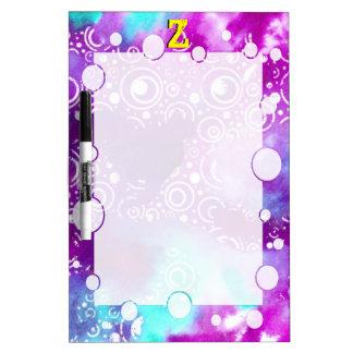 水彩画は紫色かターコイズ泡立ちます ホワイトボード