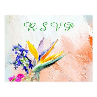 水彩画カスタムなRSVPの郵便はがき極楽鳥 ポストカード
