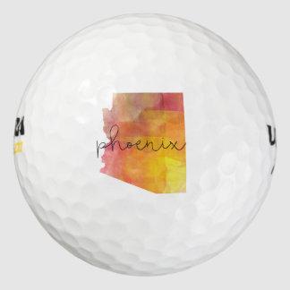 水彩画フェニックスアリゾナ ゴルフボール