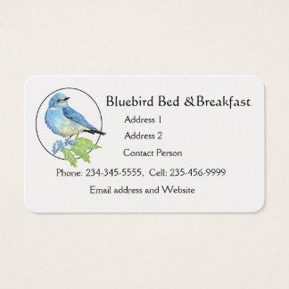 水彩画山のブルーバードののための青い鳥の芸術 名刺