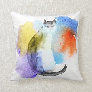 水彩画猫 クッション