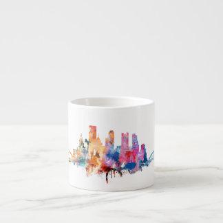 水彩画都市スカイラインのマグ エスプレッソカップ