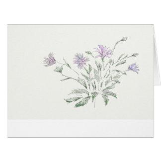 水彩画、花、カード ビッググリーティーングカード