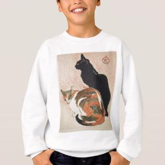 水彩画- 2匹の猫- ThéophileアレグサンダーSteinlen スウェットシャツ