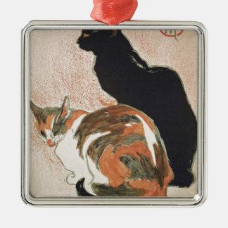 水彩画- 2匹の猫- ThéophileアレグサンダーSteinlen メタルオーナメント