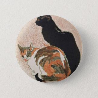 水彩画- 2匹の猫- ThéophileアレグサンダーSteinlen 5.7cm 丸型バッジ
