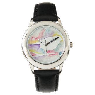 水彩画Birdy 腕時計