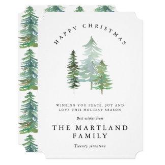 水彩画FOREST-HAPPYのクリスマス カード
