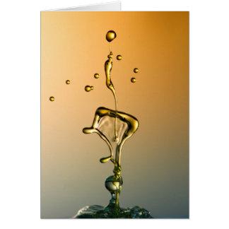 水彫刻: 金ライン挨拶状 カード