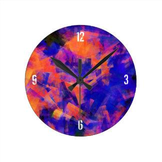 水抽象芸術1 ラウンド壁時計