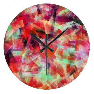 水抽象芸術2 ラージ壁時計