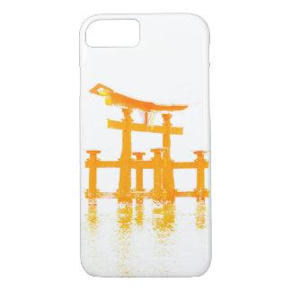 水携帯電話の箱のToriiのゲート iPhone 8/7ケース