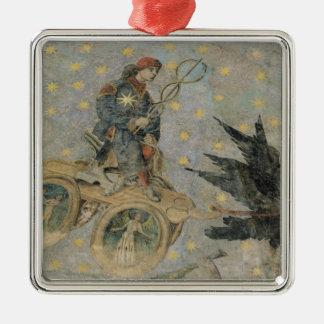 水星、アーチ形天井からの詳細の一人乗り二輪馬車 メタルオーナメント