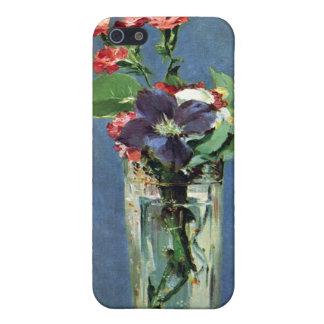 水晶つぼのカーネーションそしてクレマチス、Manet iPhone 5 カバー