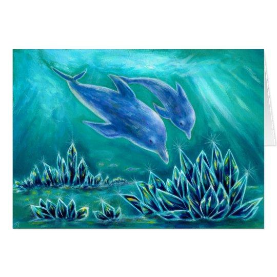 水晶とイルカの海1 カード
