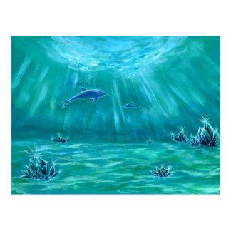 水晶とイルカの海3 はがき