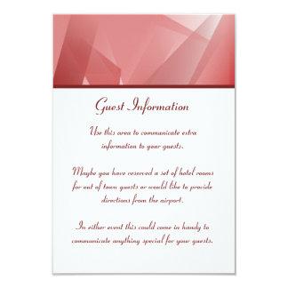 水晶のばら色のゲスト情報 カード