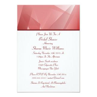 水晶のばら色のブライダルシャワー招待状 カード